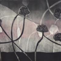 Pientä liikettä/ Tiny Motion, kohopaino/ relief print, 50x85cm, 2014