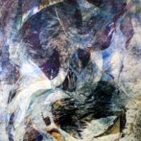 Hiekkarannalla/ On the Beach, puupiirros/ woodcut, 84x58cm, 2001