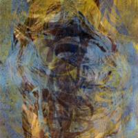 Pyörre II/Whirl II,  puupiirros/woodcut, 84x58cm, 1999