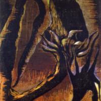 Planeetta Z/Planet Z, puupiirros/woodcut,  44x32cm, 1997