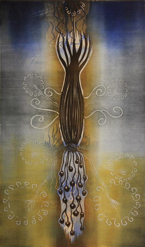 Loisto/Shine, kohopaino/ relief print, 82x51cm, 2015