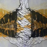 Vastavoima/ Counterforce, kohopaino/ relief print, 81x123cm, 2007
