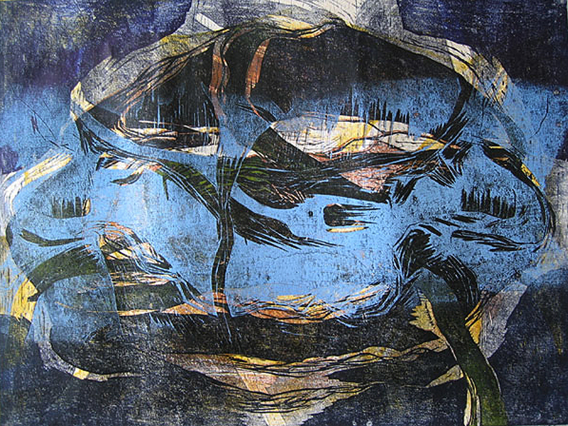 Jäälautta/ Floe, puupiirros/ woodcut, 2006