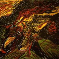 Les Fauves, lino/linocut, 41,5×61,5cm, 1985