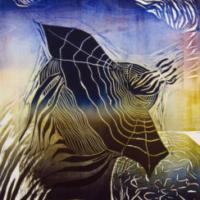 Paluu/ Return, kohopaino/ relief print, 47×38 cm, 2013