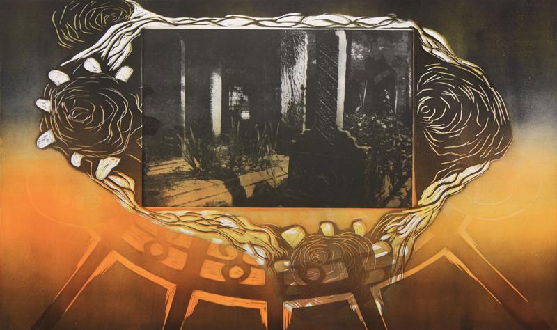 Hiljaisuus on hiljaisuutta/ Silence is Silence, kohopaino, fotogravyyri/ relief print, photogravyre, 52x81cm, 2012