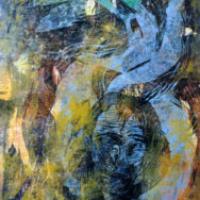 Tuulisia päiviä/ Windy Days, puupiirros/ woodcut, 84x58cm, 2001