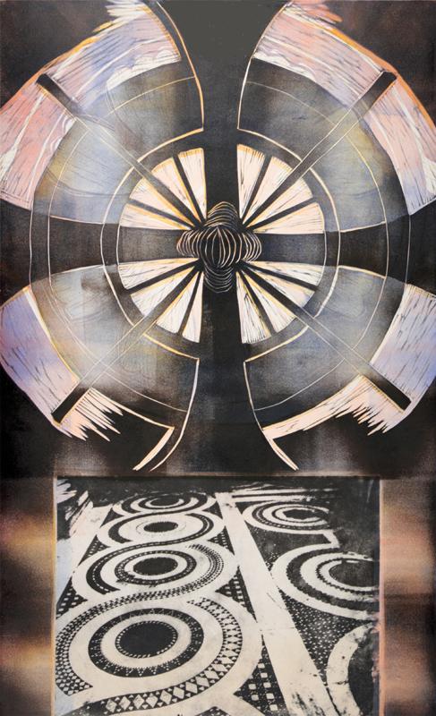 Sarjasta Luostaripiha/ Cloister Court, kohopaino, fotogravyyri/ relief print, photogravyre, 82x51cm, 2010