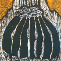 Unelma/ Dream, koho-, syväpaino/ relief print, intaglio, 50x37, 2007
