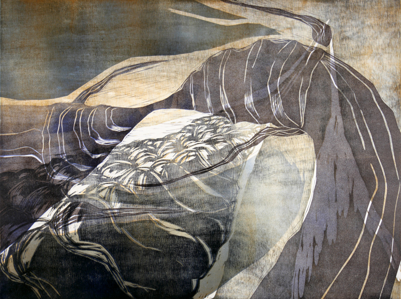 Hauska tavata/ Nice to meet, kohopaino/ relief print, 47x50cm, 2010