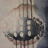 Laulu/Song, kohopaino/relief print, 38x43cm, 2016