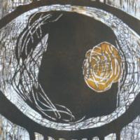 Katse/ Glance, koho-, syväpaino/ relief print, intaglio, 50x37cm, 2007