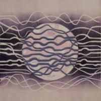 Superkuu/Super Moon 2017, kohopaino/relief print 44x38 cm