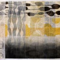 Asiat aaltoilee 2/Things Waving 2, 2020, puupiirroskollaasi/woodcut collage, 51x77cm