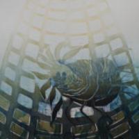Kukkiva/Blooming 2020, kohopaino/relief print, 85x50cm