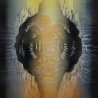Säroilyä/Distorted 2020, kohopaino/relief print, 44x38cm
