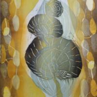 Syksy/Autumn 2020, kohopaino/relief print, 44x38cm